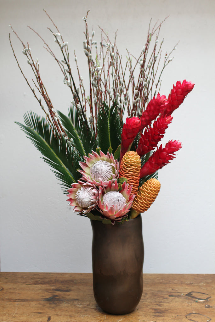 Ginger, Protea & Pussywillow