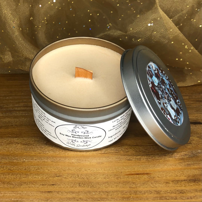 Wooden Wick Soy Candle ~ Gingerbread