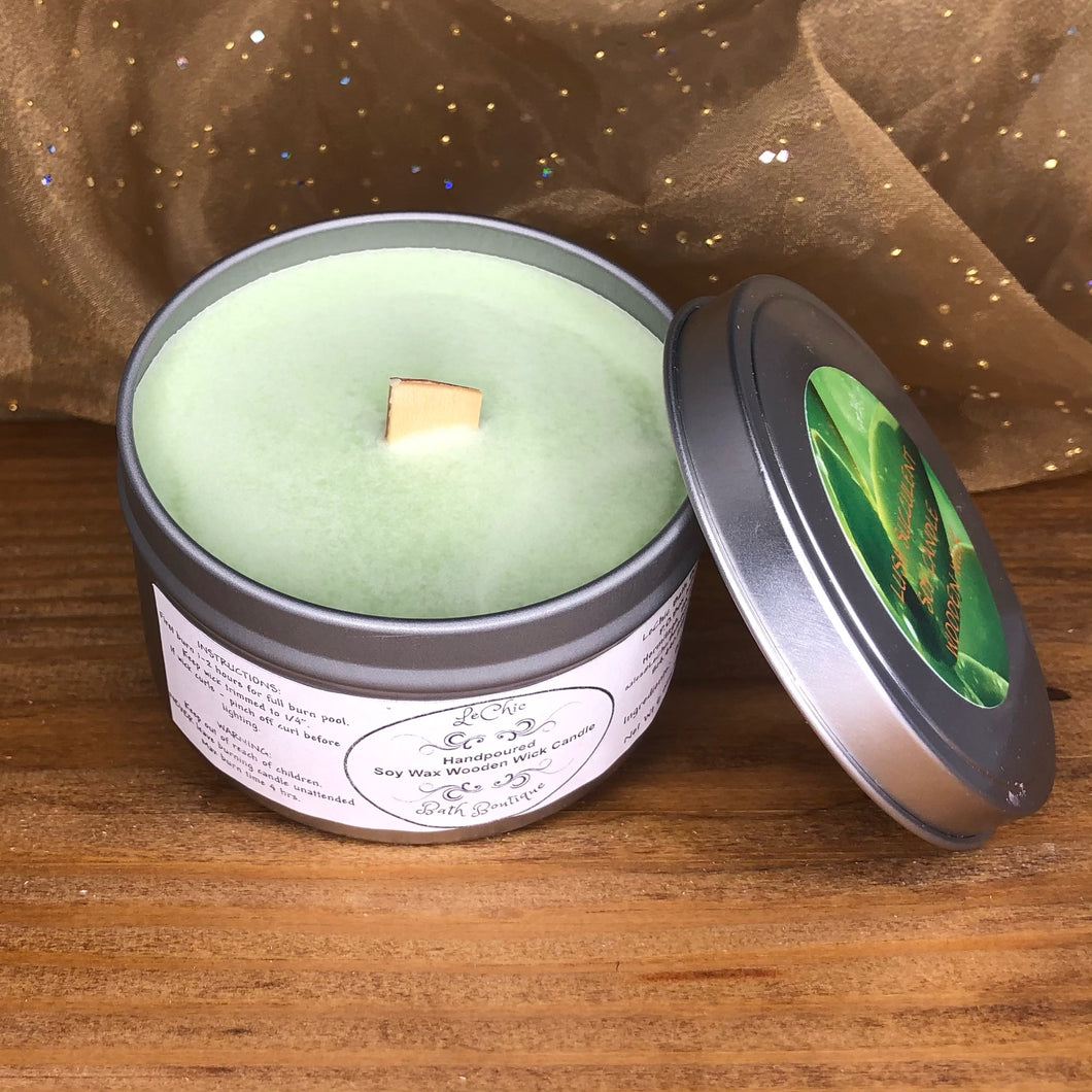 Wooden Wick Soy Candle ~ Lush Succulent