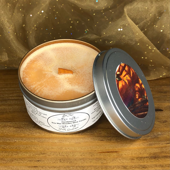 Wooden Wick Soy Candle ~ Pumpkin Spice