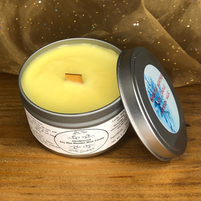 Wooden Wick Soy Candle ~ Sweater Weather