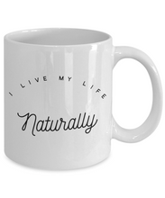 Naturalist mug inspirational gift for healthy living vegan