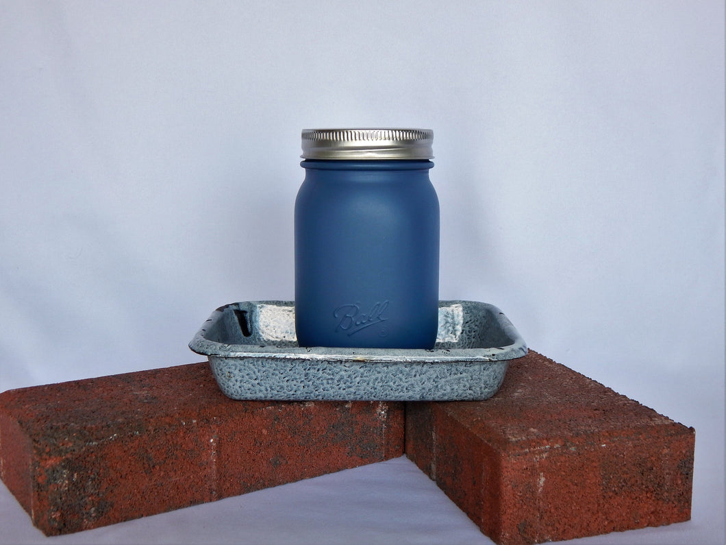 SINGLE CANNING JAR IN METAL BASE