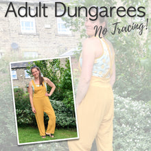 Adult Dungarees Sewing Pattern - Free UK Shipping!