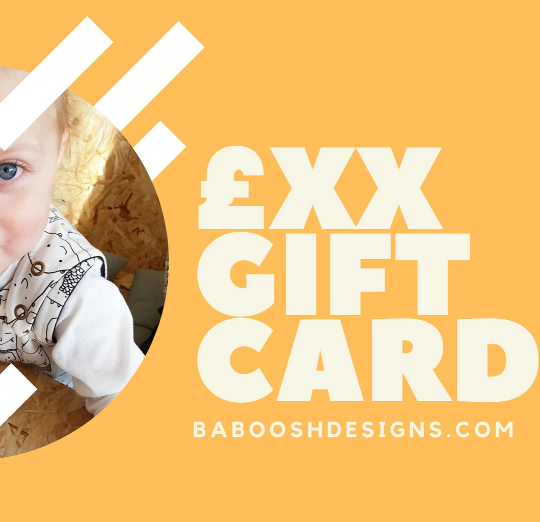 Baboosh Gift Cards - Baboosh Designs