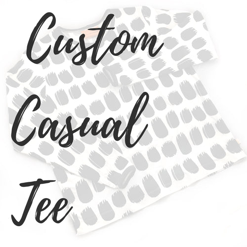 Custom Adult Casual Tee - Baboosh Designs
