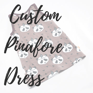 Custom Pinafore Dress - Baboosh Designs