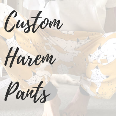 Custom Harem Pants for Grown-Ups - Baboosh Designs