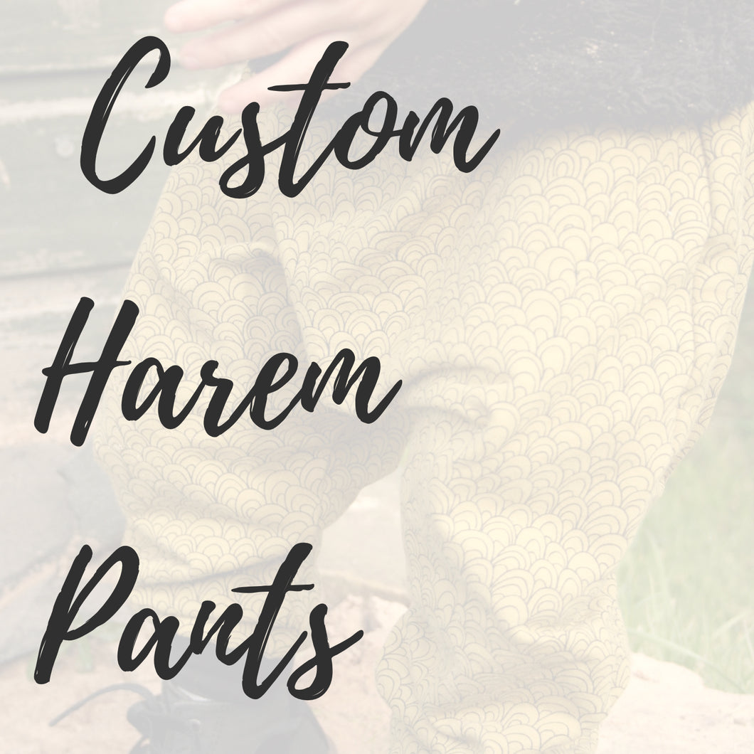 Custom Harem Pants for Babies & Kids - Baboosh Designs