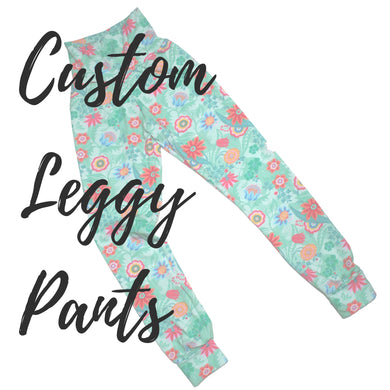 Custom Adult  Leggy Pants - Baboosh Designs