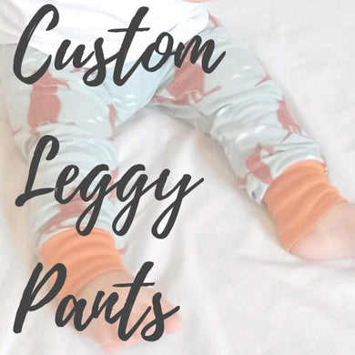 Custom Leggy Pants Baby/Kids Leggings - Baboosh Designs