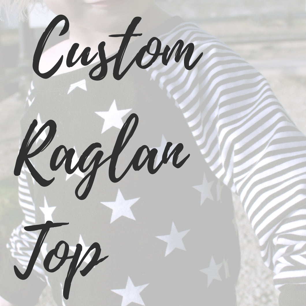 Custom Long-Sleeved Raglan Top - Baboosh Designs
