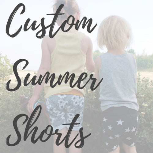 Custom Summer Shorts for Kids & Adults - Baboosh Designs