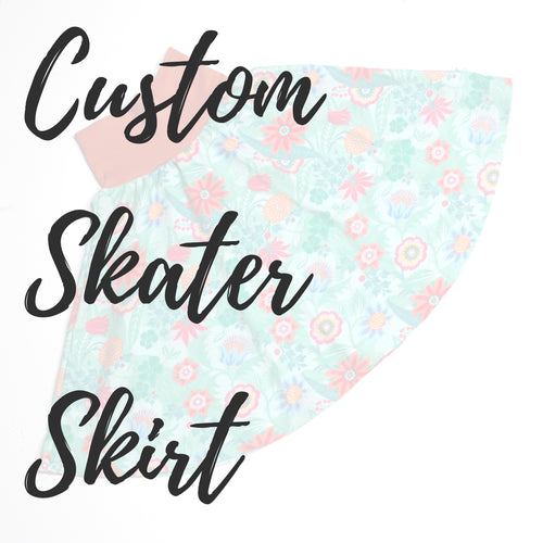 Custom Skater Skirt for Girls / Women - Baboosh Designs