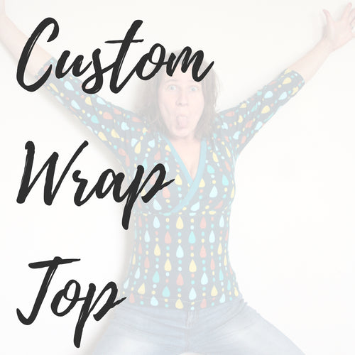 Custom Women's Wrap Top (with optional breasfeeding panel) - Baboosh Designs