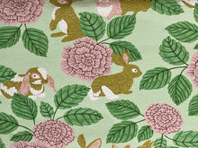 Rabbit Rose - Organic Jersey Fabric by Fossan