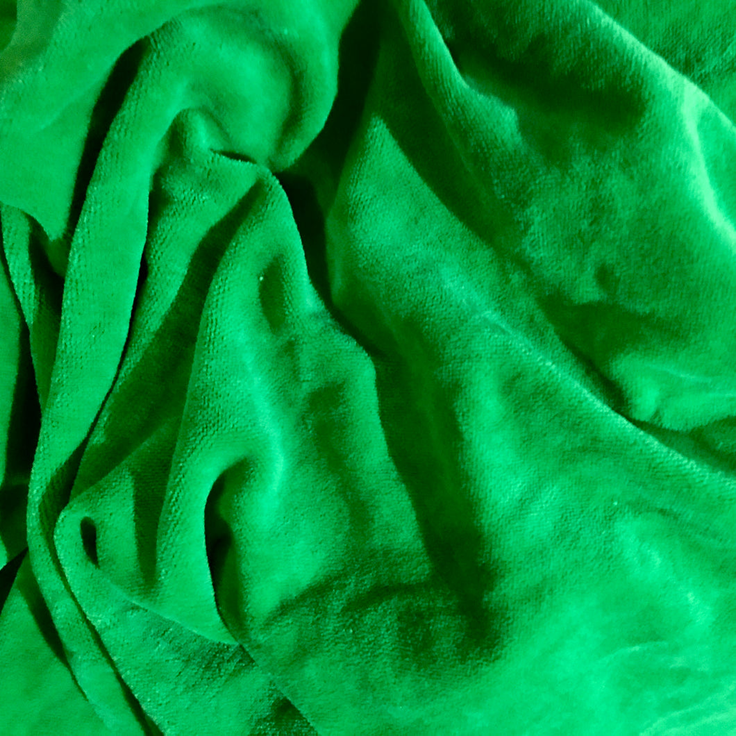Green Velours Jersey Fabric by Lillestoff - Baboosh Designs