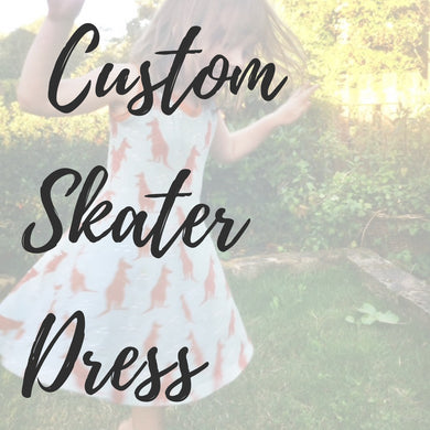 Custom Girls Skater Dress - Baboosh Designs
