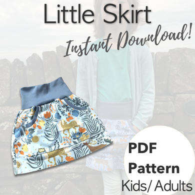 PDF Little Skirt Sewing Pattern - Sizes 12-18M to 3XL