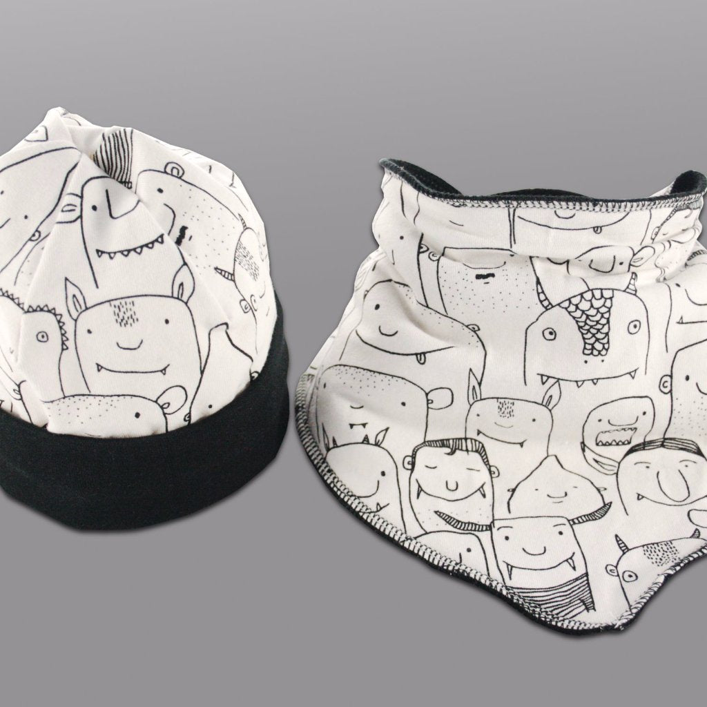 Custom Baby Bib & Hat Set - Baboosh Designs