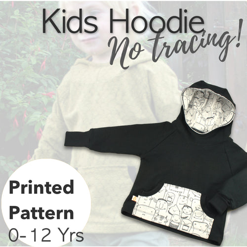 Baby/Kids Hoodie Sewing Pattern - Free UK Shipping! - Baboosh Designs