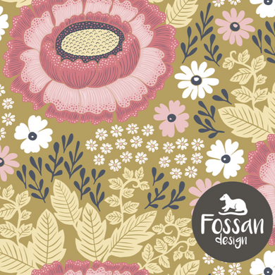 Freja Pink Jersey Fabric by Fossan