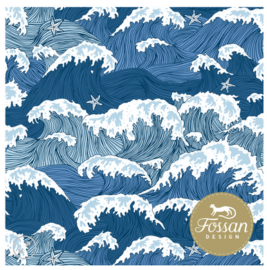 Waves Jersey Knit Fabric by Fossan