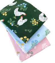 Hens Blue Jersey Fabric by Fossan