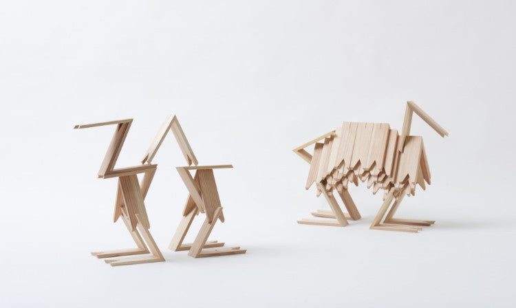 "Kengo Kuma Unveils Minimalist ""Japanese LEGO"" Blocks Made From Wood"