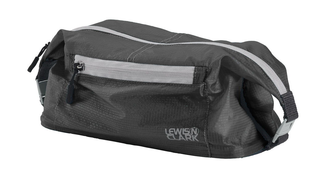 Lewis N Clark Electrolight Lightweight Nylon Toiletry Kit Grey