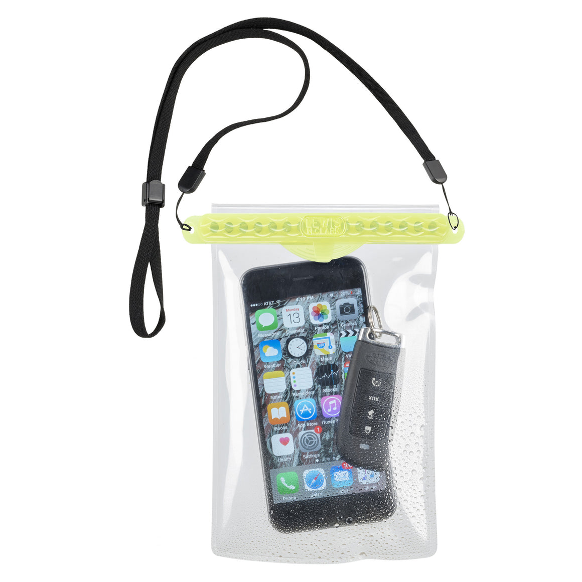 Lewis N Clark Waterproof Travel Pouch for Phone Self Sealing Yellow