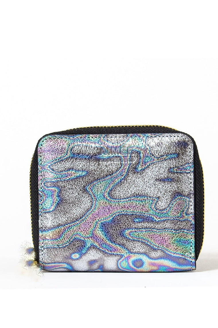 Aimee Kestenberg Brixton Zip Around Accordion Wallet Oil Slick