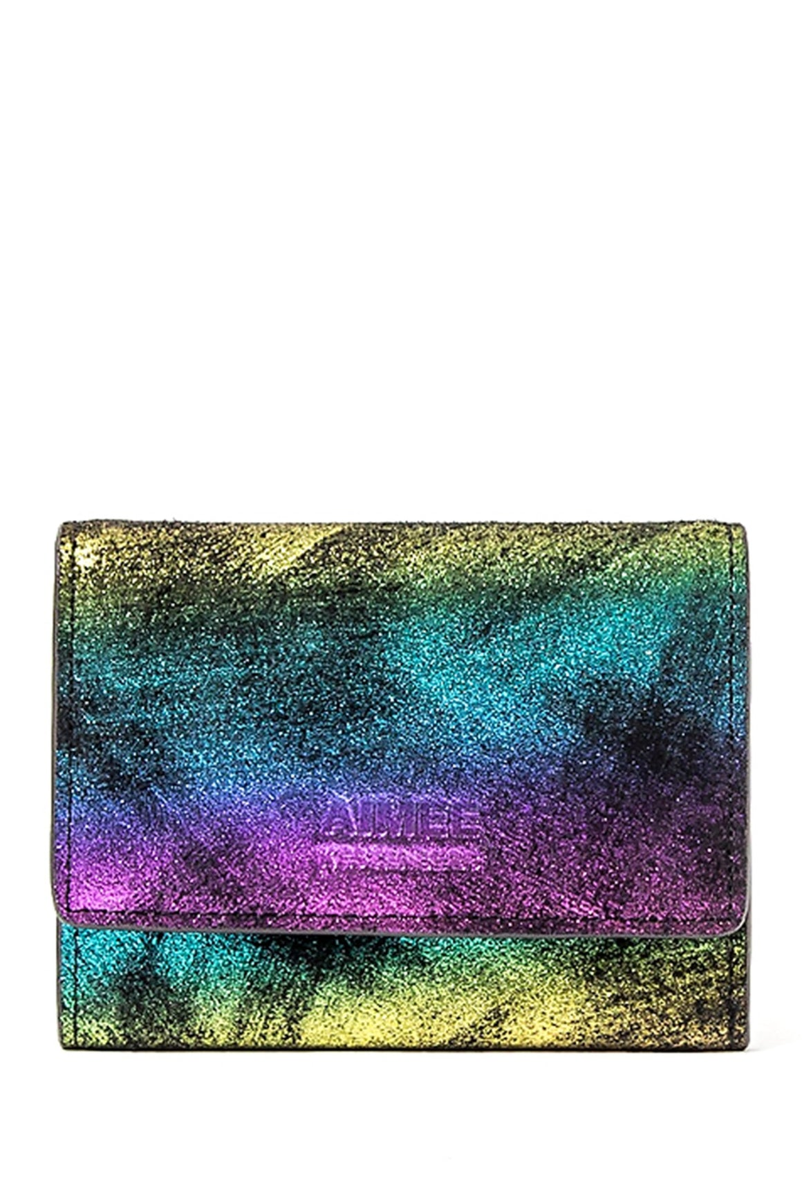 Aimee Kestenberg Madrid French Wallet Rainbow Shimmer