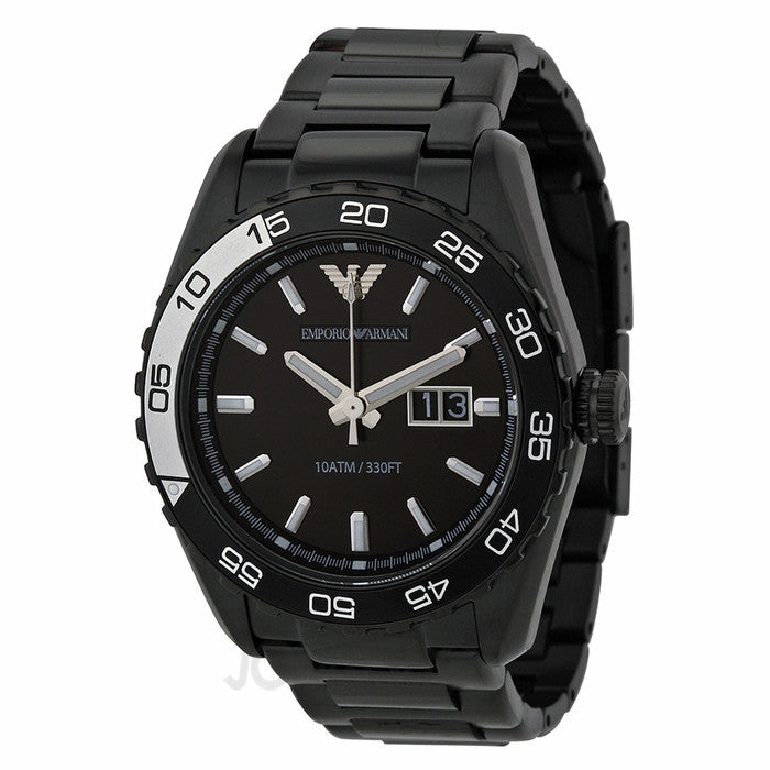 Emporio Armani Men's Sportivo Stainless Steel Dive Watch Black