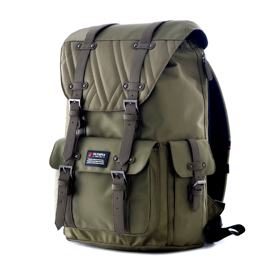 Olympia Hopkins Laptop Backpack Olive