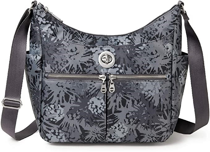 Baggallini Bristol Crossbody Shoulder Bag Pewter