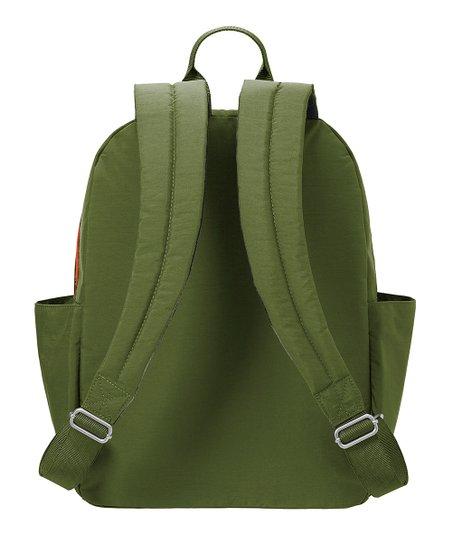 Baggallini Cargo Backpack Green Scatter
