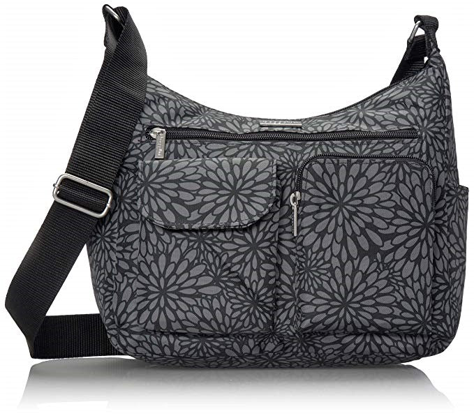 Baggallini Everyplace Bag Floral Pewter