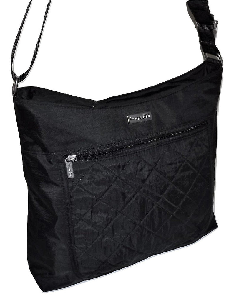 Baggallini Quilted Voyager Hobo Tote Black