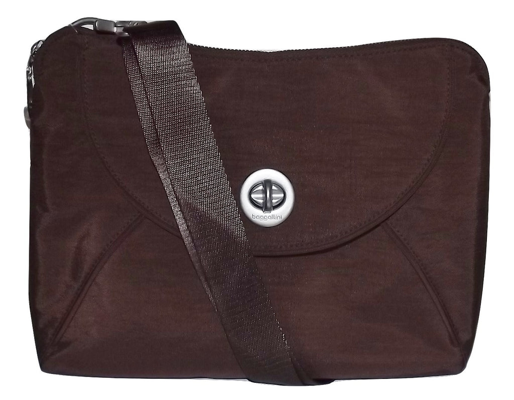 Baggallini Women's Rio Crossbody Shoulder Bag with Zip Wallet Mocha
