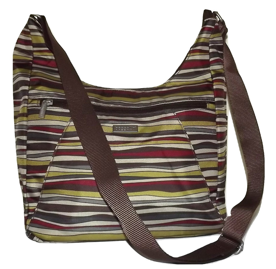 Baggallini Voyage Hobo Tote Crossbody Bag Multi Stripe