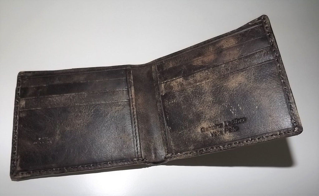 Baglioni Italia Crocodile Bifold 6 Pocket Wallet Smoke Grey