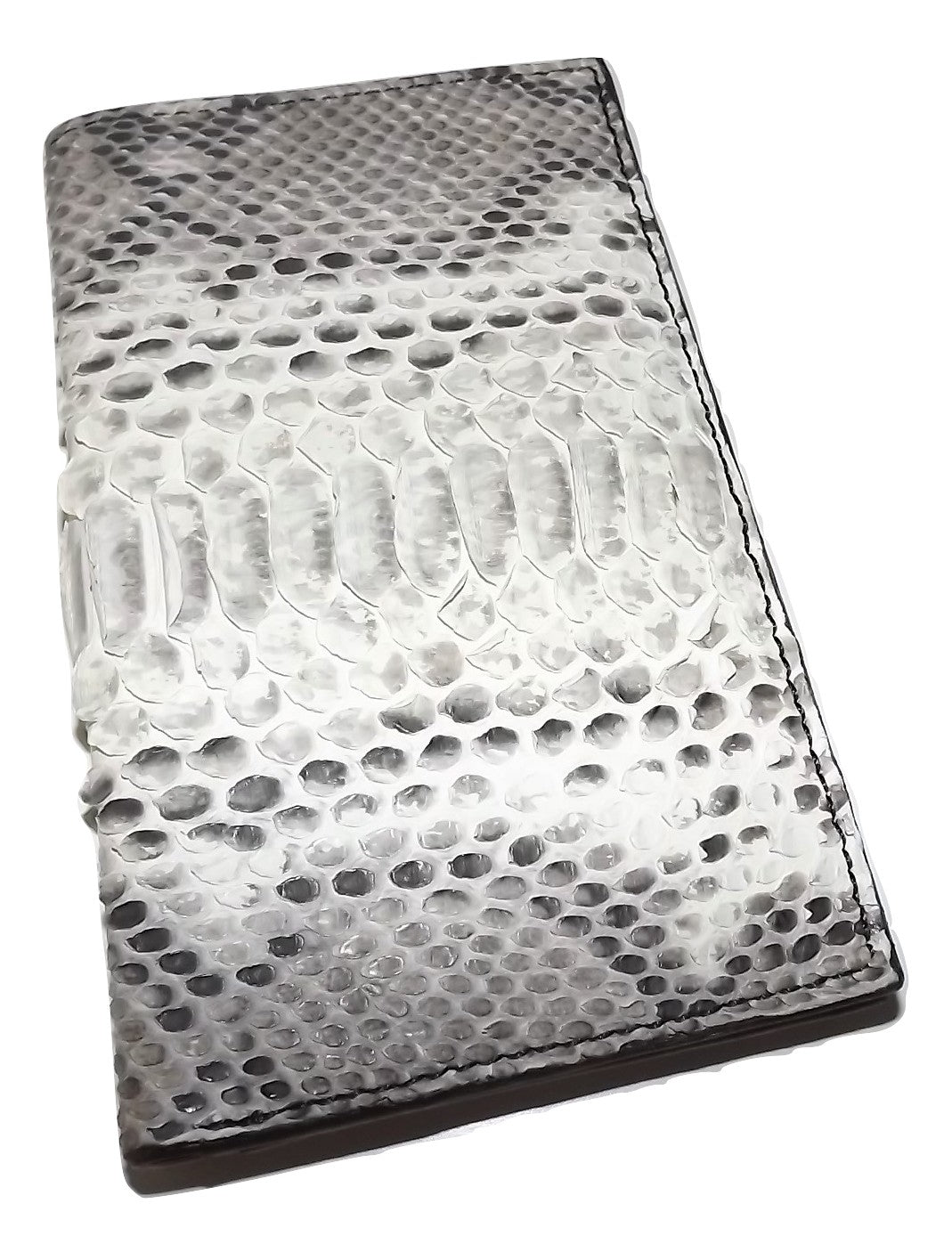 Baglioni Italia Python Breast Pocket Wallet White Multi