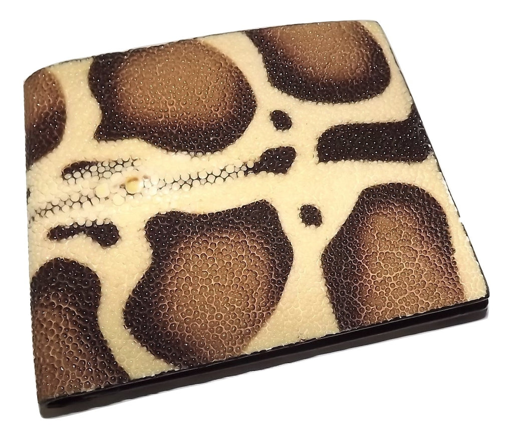 Baglioni Italia Stingray Bifold Wallet Brown Multi