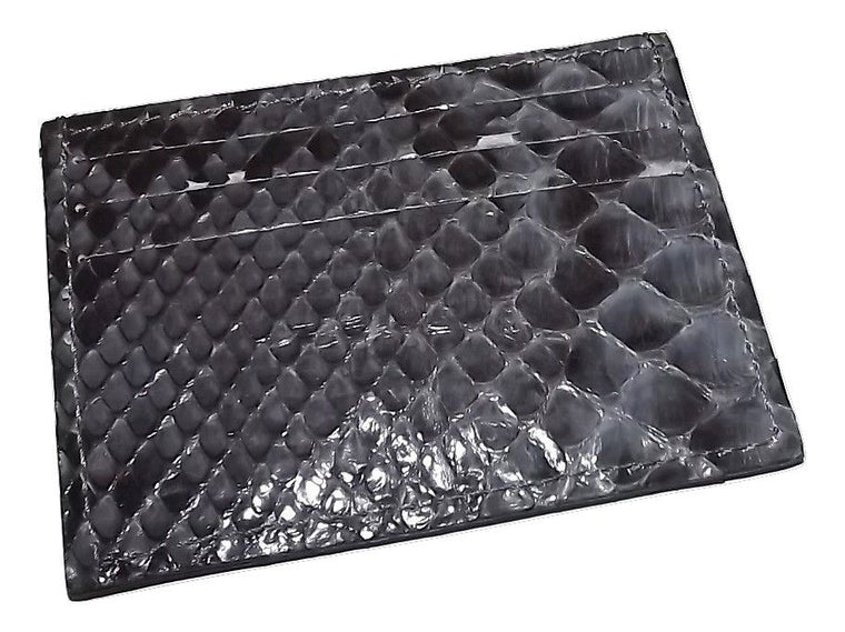 Baglioni Python Front Pocket Card Case Wallet Grey