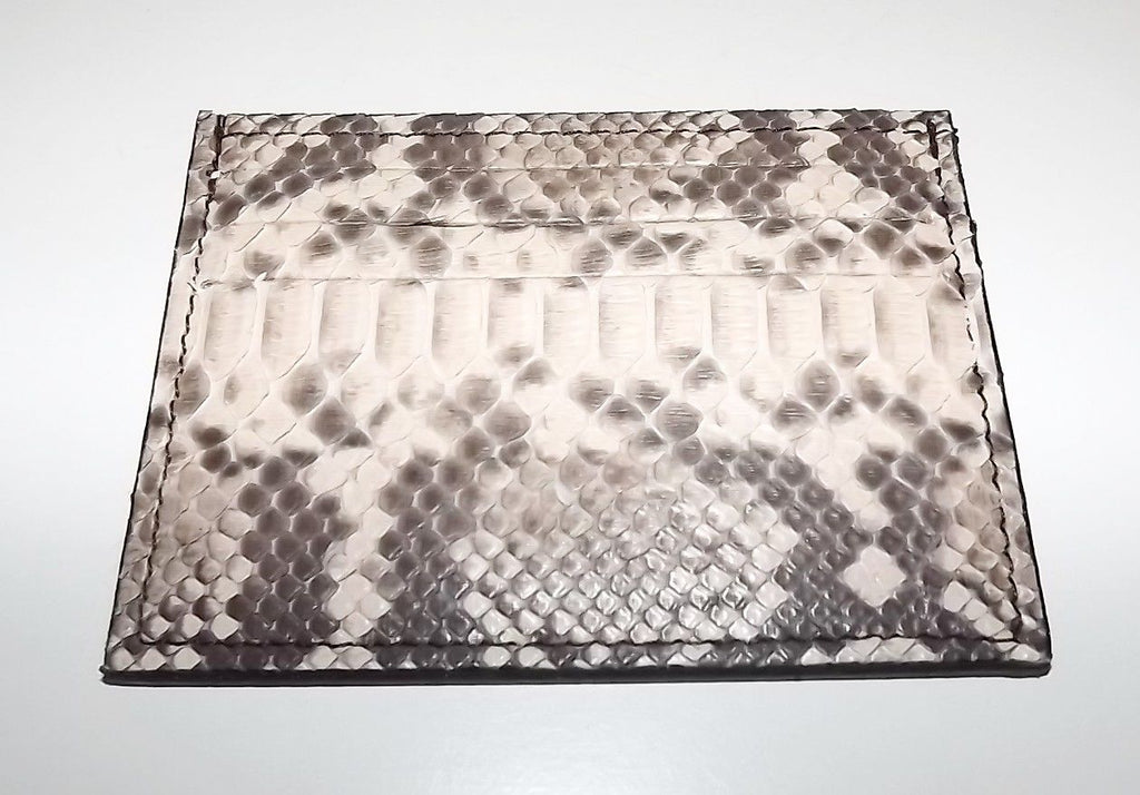 Baglioni Python Front Pocket Card Case Wallet Natural