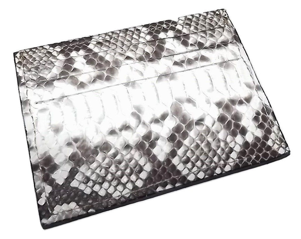 Baglioni Python Front Pocket Card Case Wallet White Multi