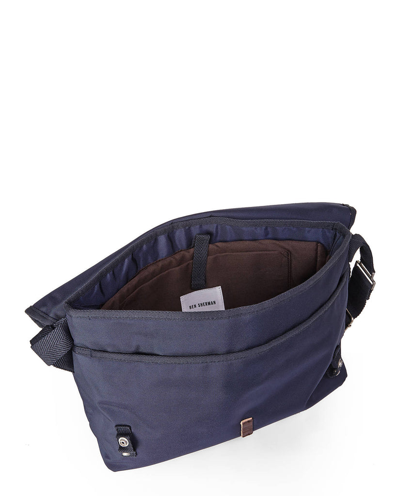 Ben Sherman Canvas Laptop/Tablet Messenger Brief Bag Navy