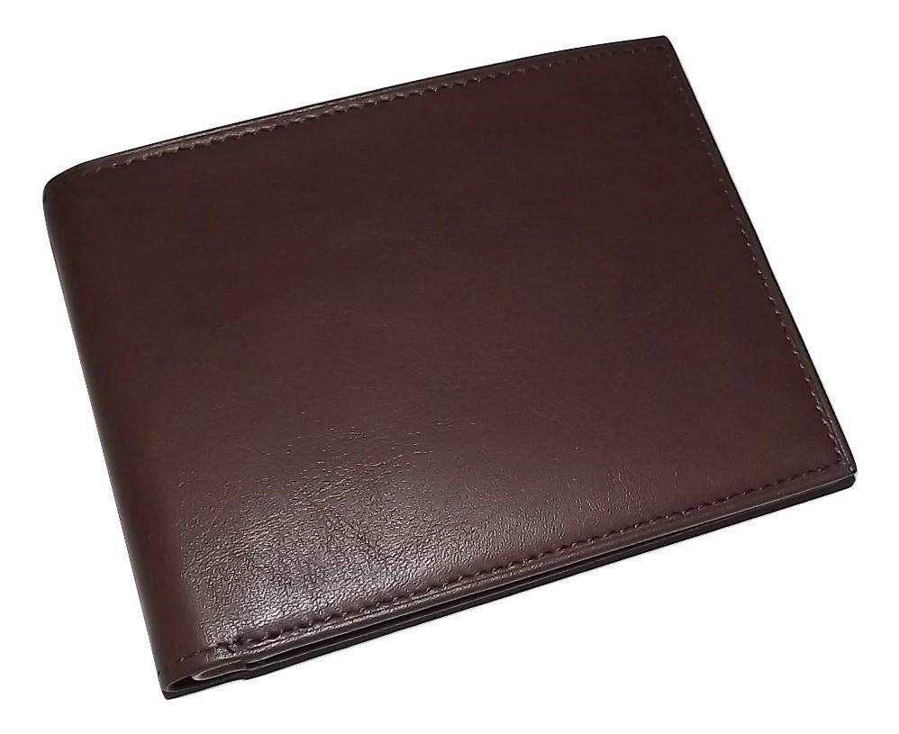 Bosca Leather Bifold Executive ID Wallet Brown