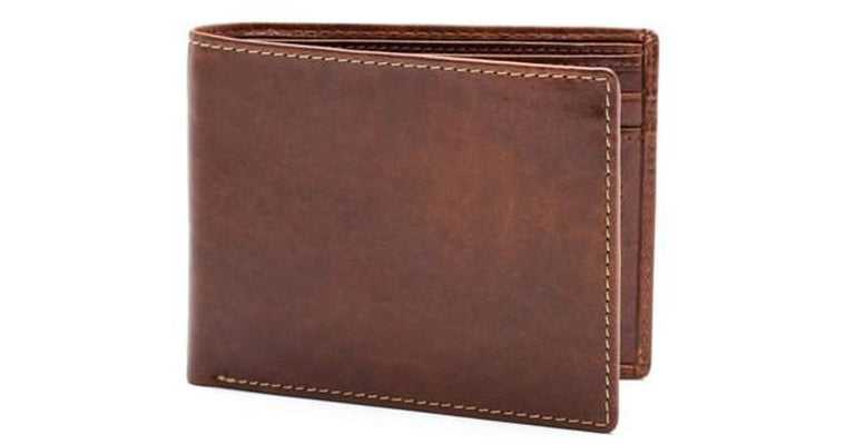 Bosca Italian Leather Vermont Executive ID Wallet Chestnut